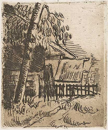 Paul Cézanne - ENTRÉE DE FERME