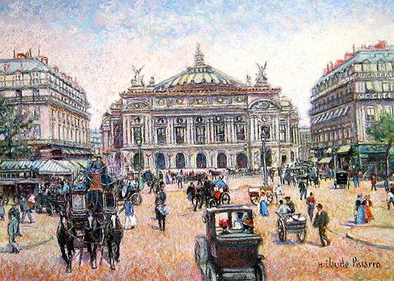 H. Claude Pissarro - Paris-Midi-Place de l'Opera