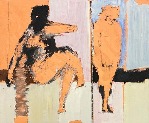 Stanley Boxer - Untitled Figure Study (242d-59)