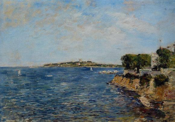 Eugene Louis Boudin - Beaulieu: La Baie de Saint-Jean