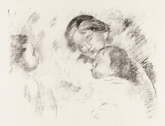 Pierre Auguste Renoir - Une Mere et Deux Enfants