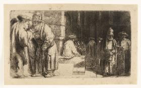 Rembrandt Harmensz Van Rijn - Jews in the Synagogue (Pharisees in the Temple)