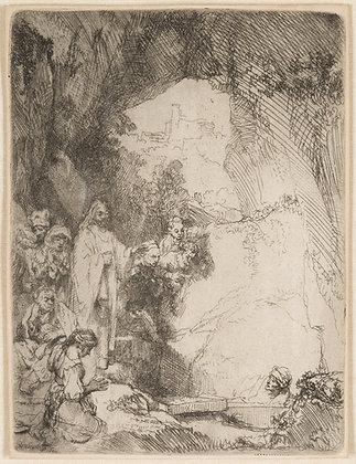 Rembrandt Harmensz Van Rijn - The Raising of Lazarus. Small Plate