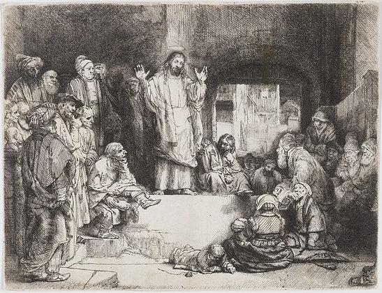"Rembrandt Harmensz Van Rijn - Christ Preaching (""La Petite Tombe"")"