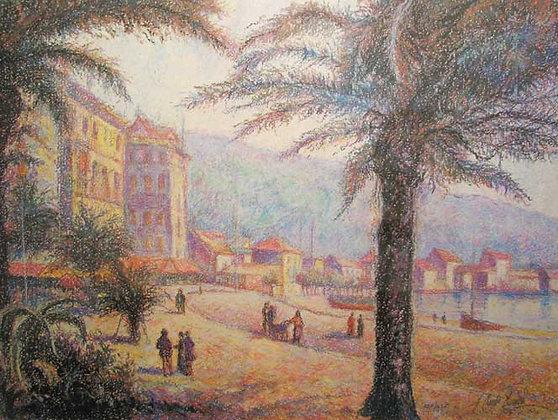 H. Claude Pissarro - La Plage de Bordigherra (Bordigherra Beach)