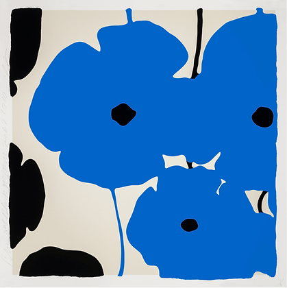 Donald Sultan - BLUE & BLACK POPPIES, FEB 3 2020