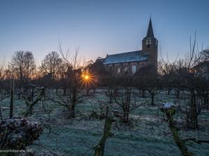 Kerk Erichem in de winter