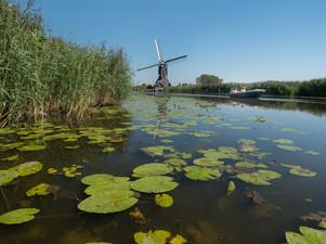 Hollands tafereeltje: molen, water en bootje