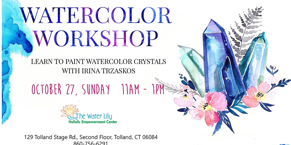 Watercolor Workshop: Learn to Paint Crystals