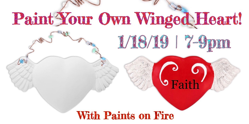Paint Your Own Winged Heart