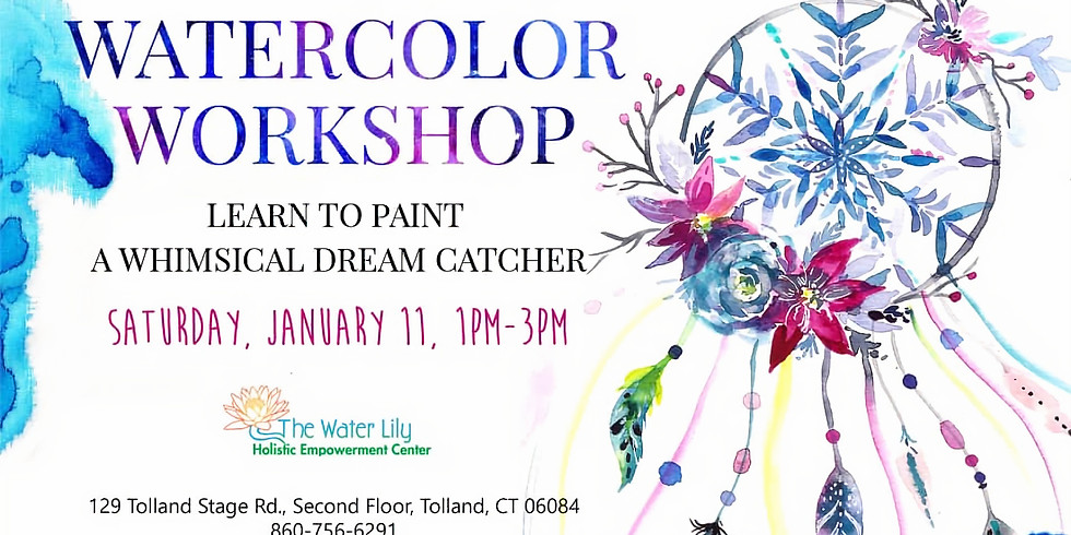Watercolor Workshop: Whimsical Dream Catcher