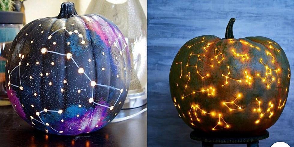 Create a Galaxy Jack-o-Lantern