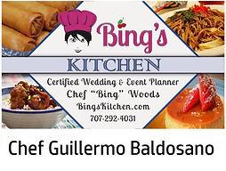 Bing's Kitchen Chef Guillermo Baldosano.