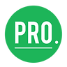 Pro Auto circular logo in green with white letters.