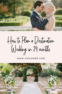 how to plan a destination wedding in 24