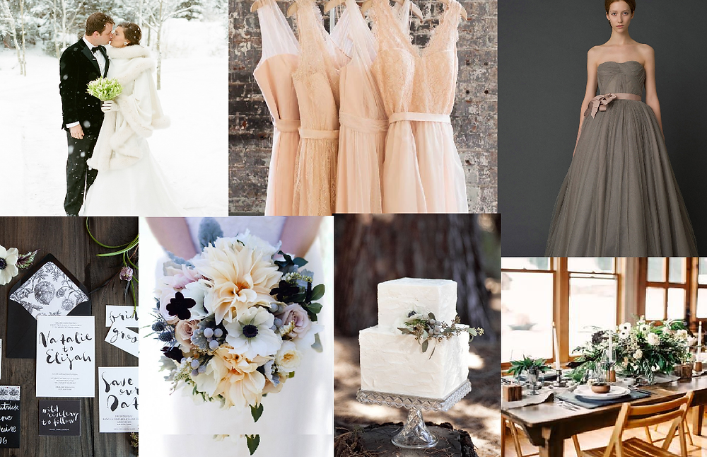 Winter wedding style board