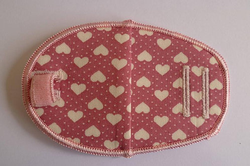 Pink Hearts Children's Fabric Reusable Eye Patch