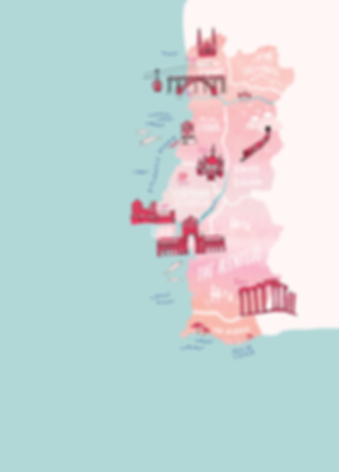 map of portugal - portugal wedding plann
