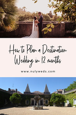 how to plan a destination wedding in 12m