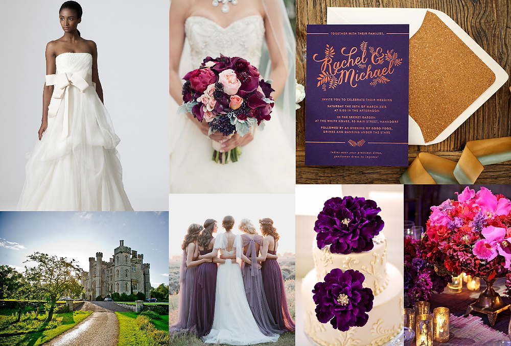 Scottish inspired wedding style board