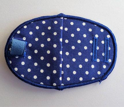 Dotty Blue Children's Fabric Reusable Eye Patch