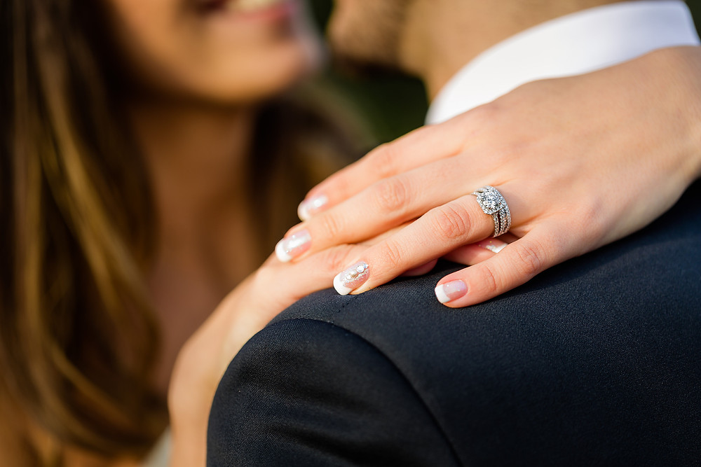 Engagement photo of the ring