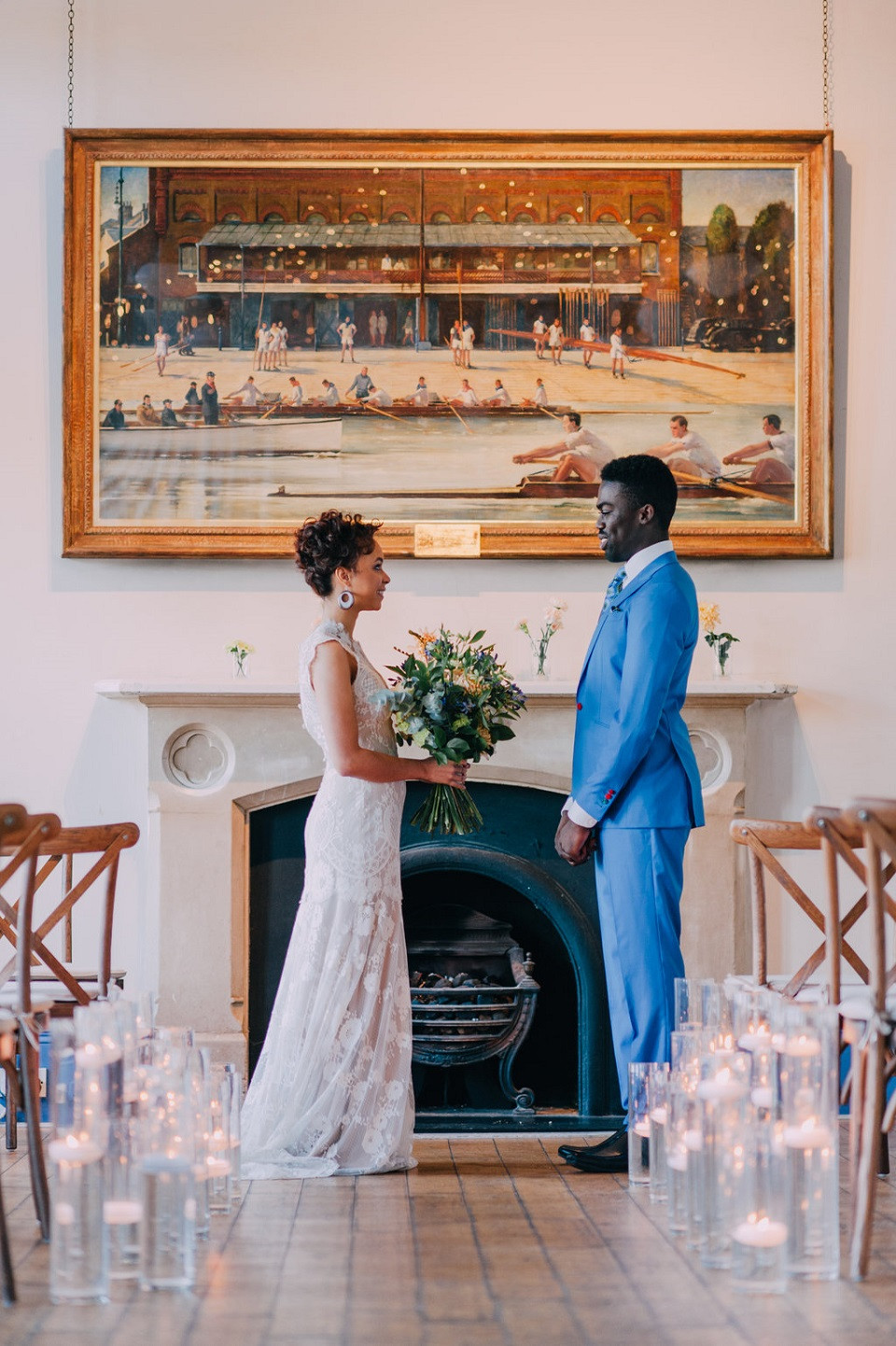 Wedding ceremony at the London Rowing Club