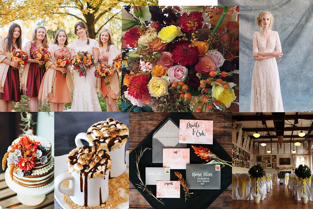 Autumn inspired wedding style board