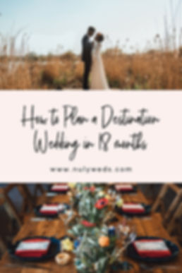 how to plan a destination wedding in 18