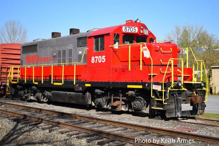 GNRR 8705 repainted