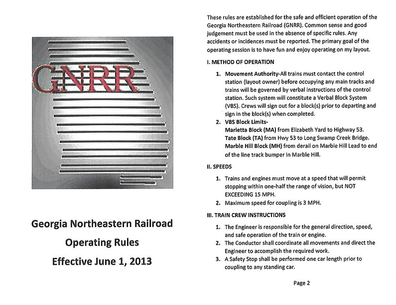 GNRR Operating Rules REVISED website for
