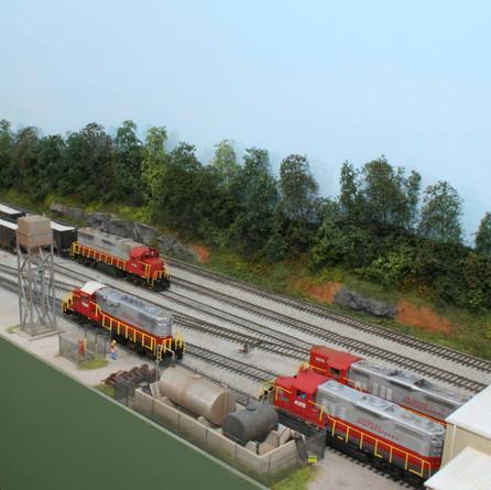 Tate Yard and locomotive service area.