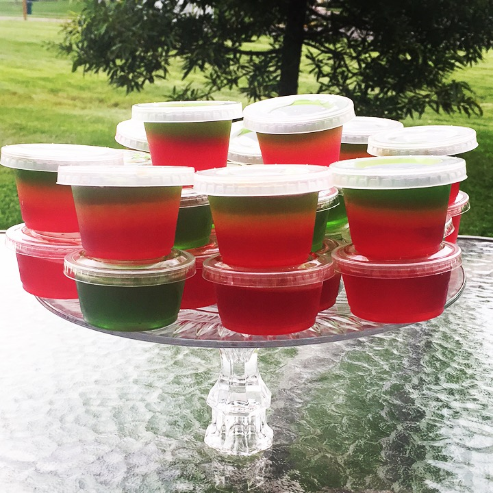 Layered Jell-o Shots