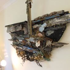 Created entirely from driftwood and materials found on dungeness beach