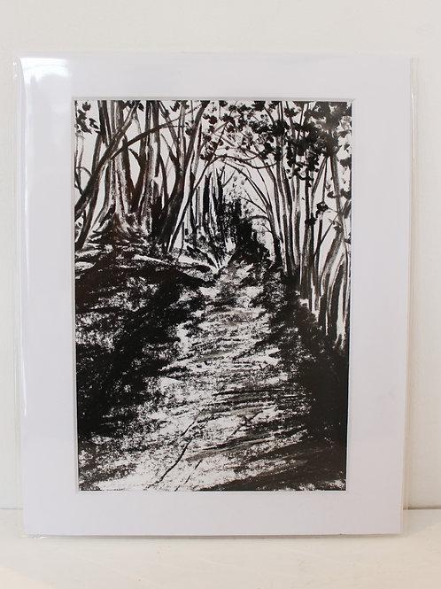 Path to Bodiam Church Sketch