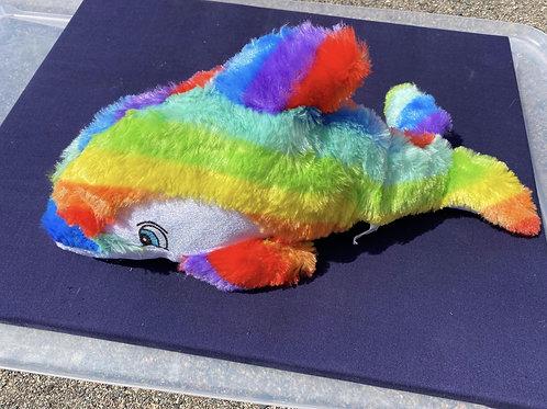 Rainbow Stuffed Dolphin