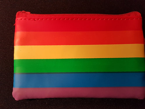 Vinyl Rainbow Zippered Pouch