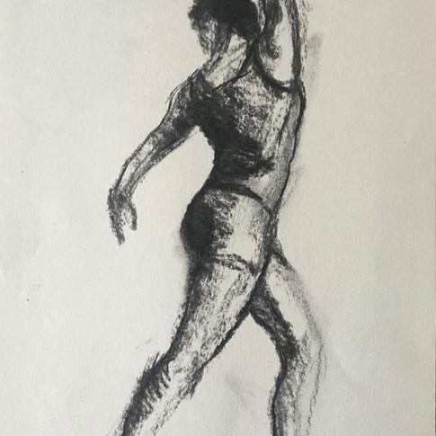 Jody charcoal dance pose