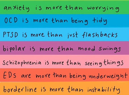 Depression, Anxiety, PTSD, OCD, BPD... are so much more than their narrow depictions