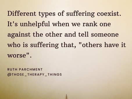 Different types of suffering coexist