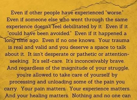 Your Trauma is Valid
