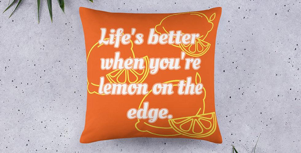Lemon On The Edge Basic Pillow