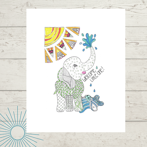 Welcome Little One Print