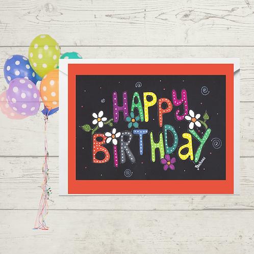 Happy Birthday Black Bright
