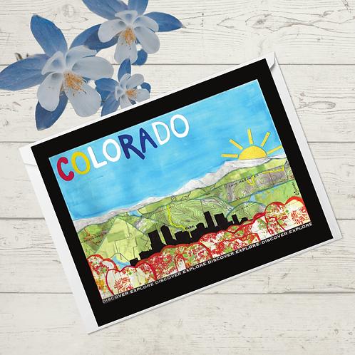 CO- Front range with Denver skyline