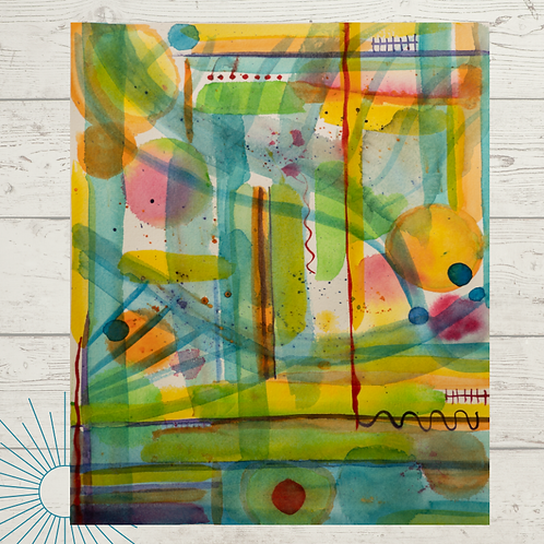 Abstract Joy Print