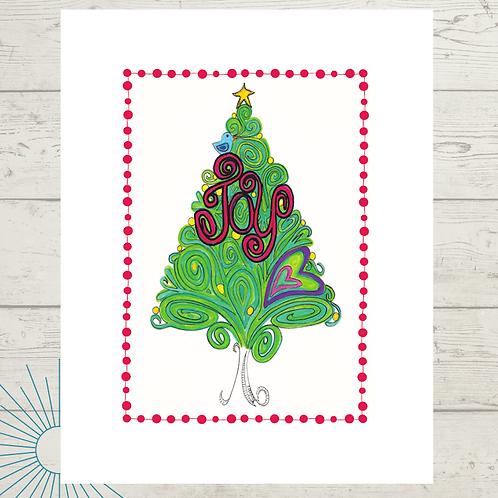 Joy Tree Print