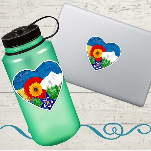 Colorado Heart Sticker