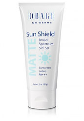 Obagi Sun Shield Broad Spectrum SPF 50 Sunscreen Lotion PA+++, available from Allure Aesthetics Ltd skin care clinic in Abergavenny, South Wales
