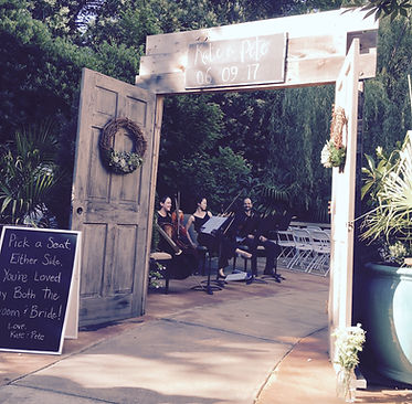 String Quartet at the River Road and Jasmine Houses
